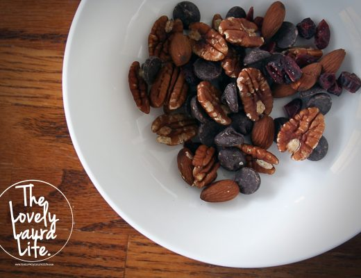 Almonds, pecans, dried cranberries and chocolate morsels