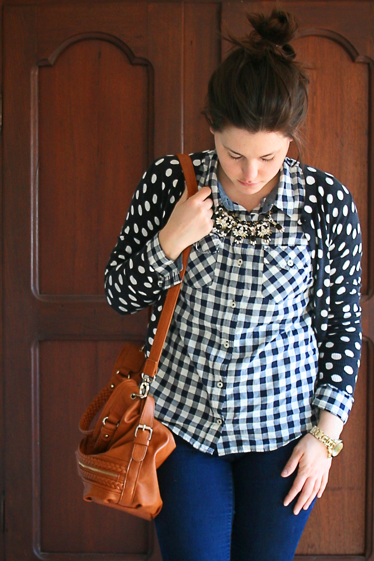 Gingham, polka dots, ankle boots