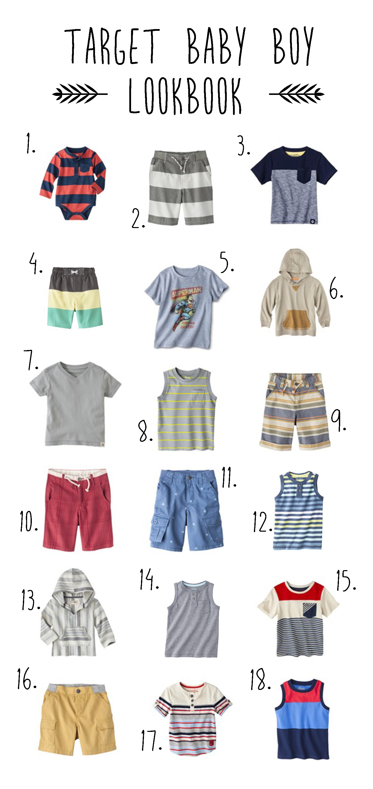 Summer baby boy style from Target