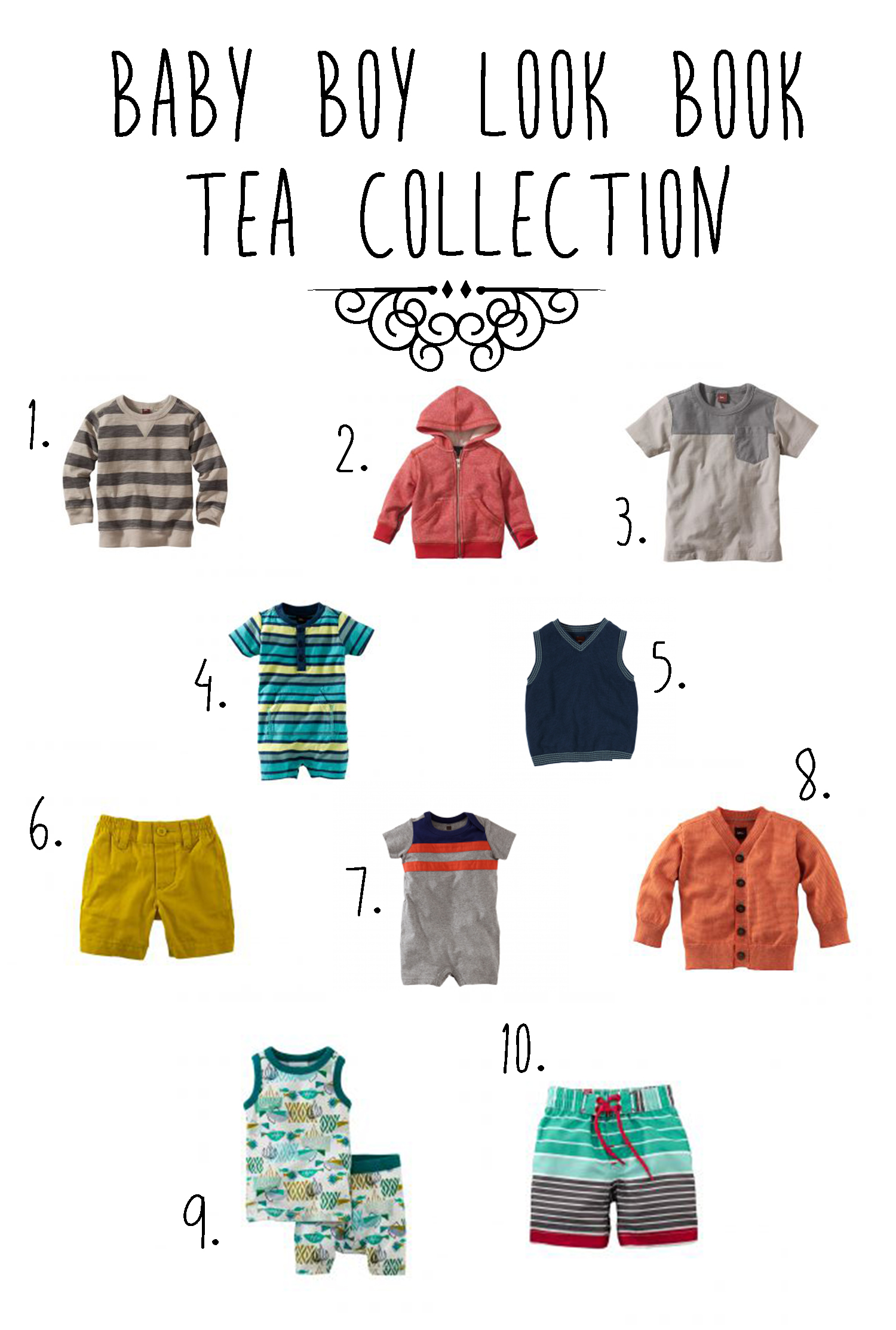 Summer baby boy style from Tea Collection