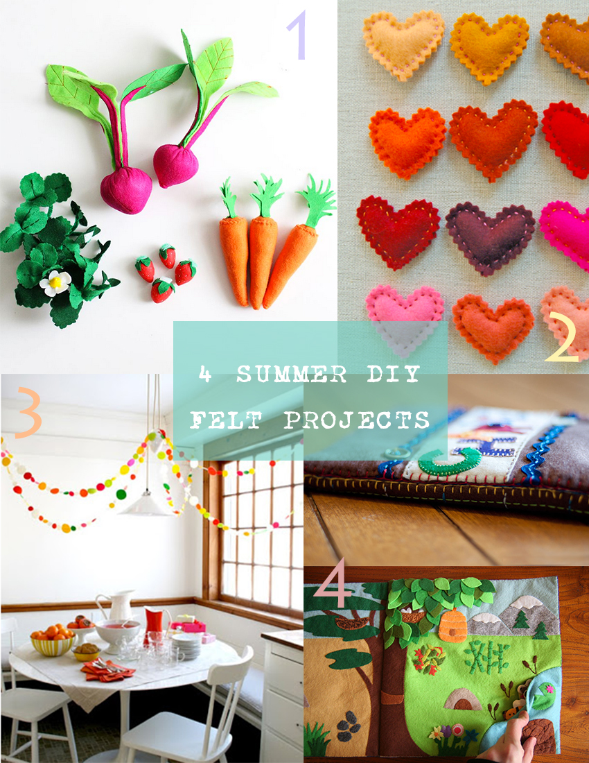 4 Summer DIY Felt Projects