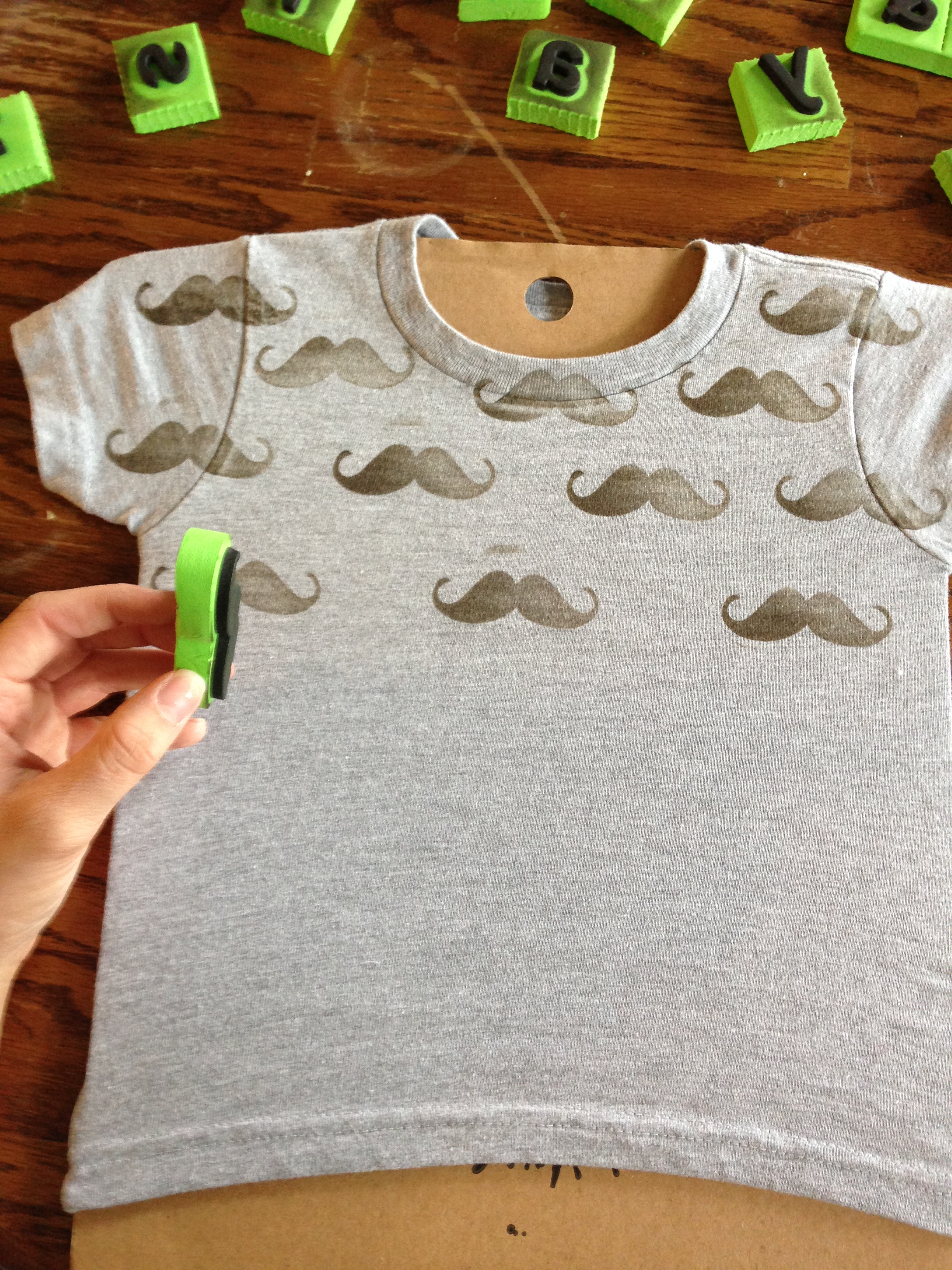 Diy hand stamped t shirts tutorial the lovely laura life for Diy t shirt design