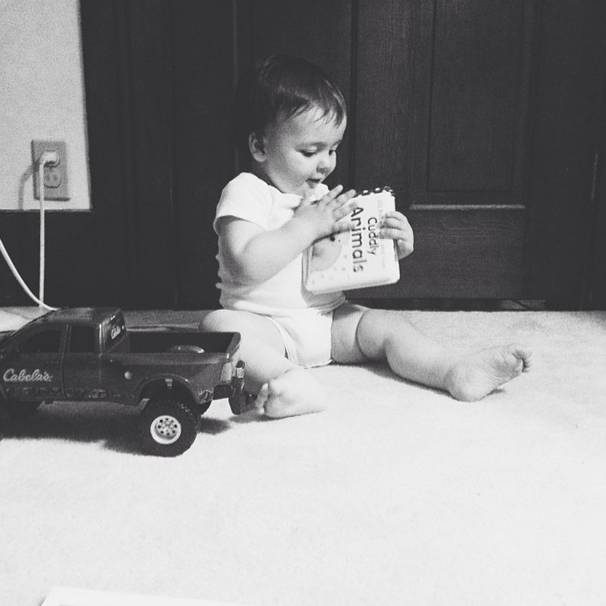 a boy and his truck