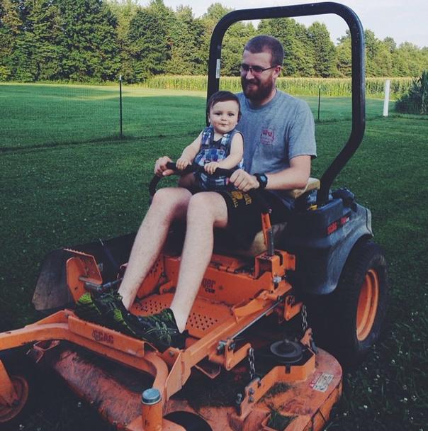 A boy's love of tractors