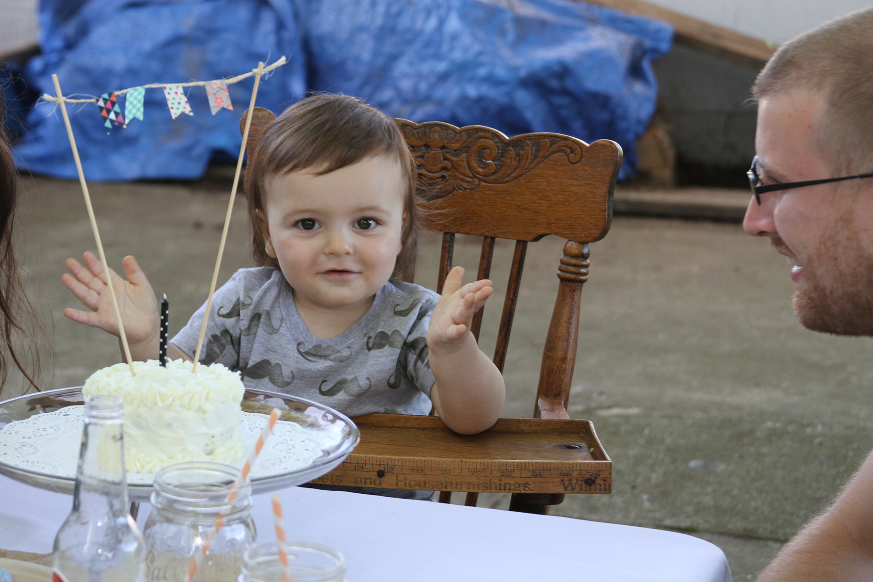 "A summer ""birthday"" themed first birthday party 