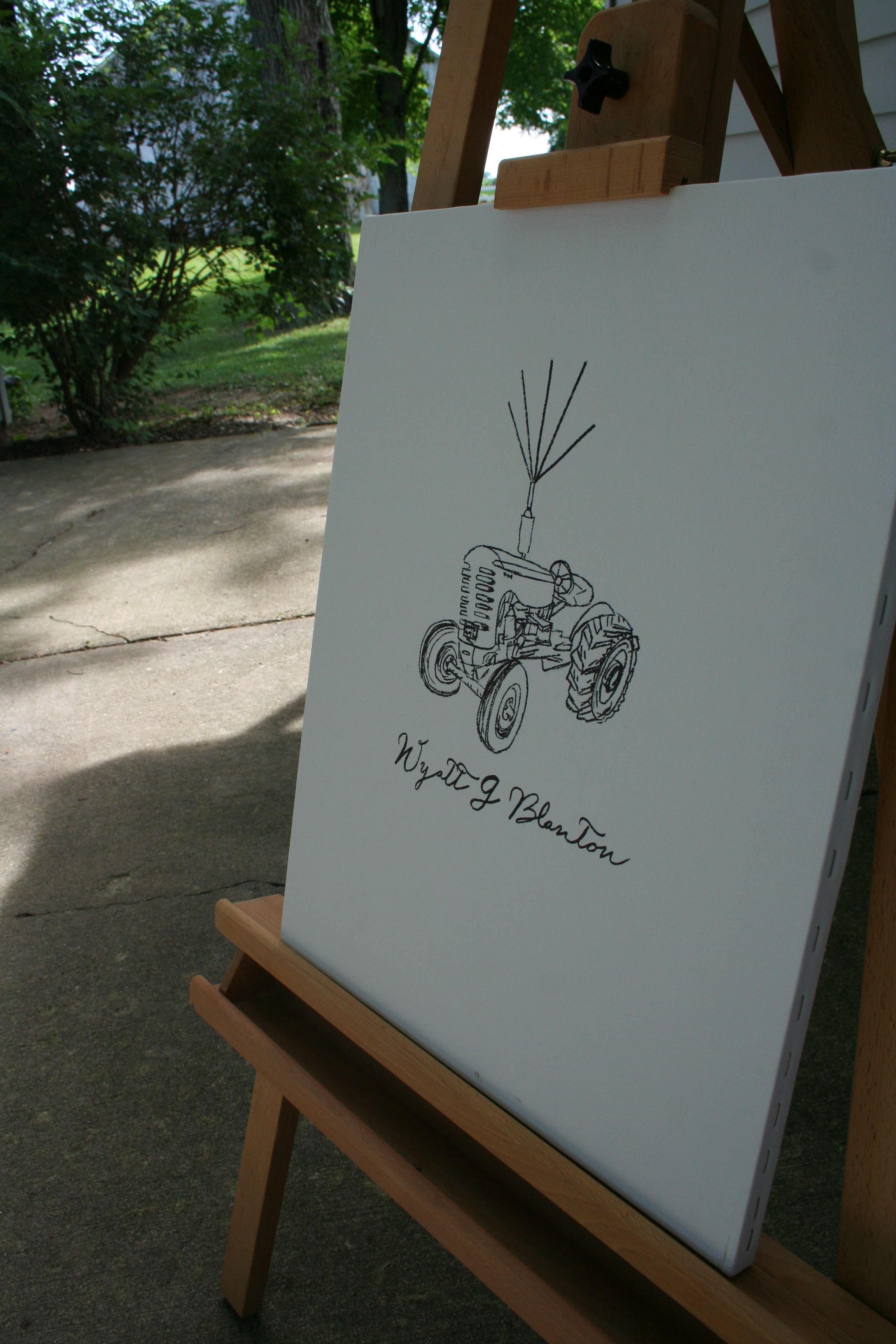 DIY fingerprint tractor w/ ballons guestbook and keepsake artwork for little boy's first birthday | thelovelylauralife.com