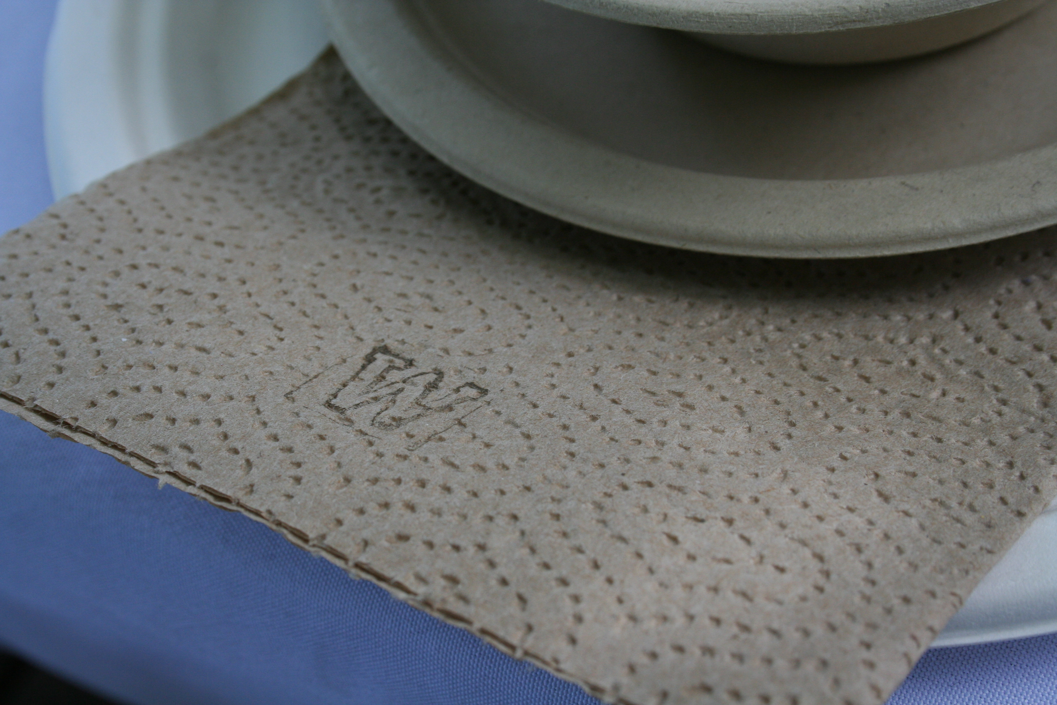 It's all about the details, hand stamp plain napkins for a custom touch |thelovelylauralife.com