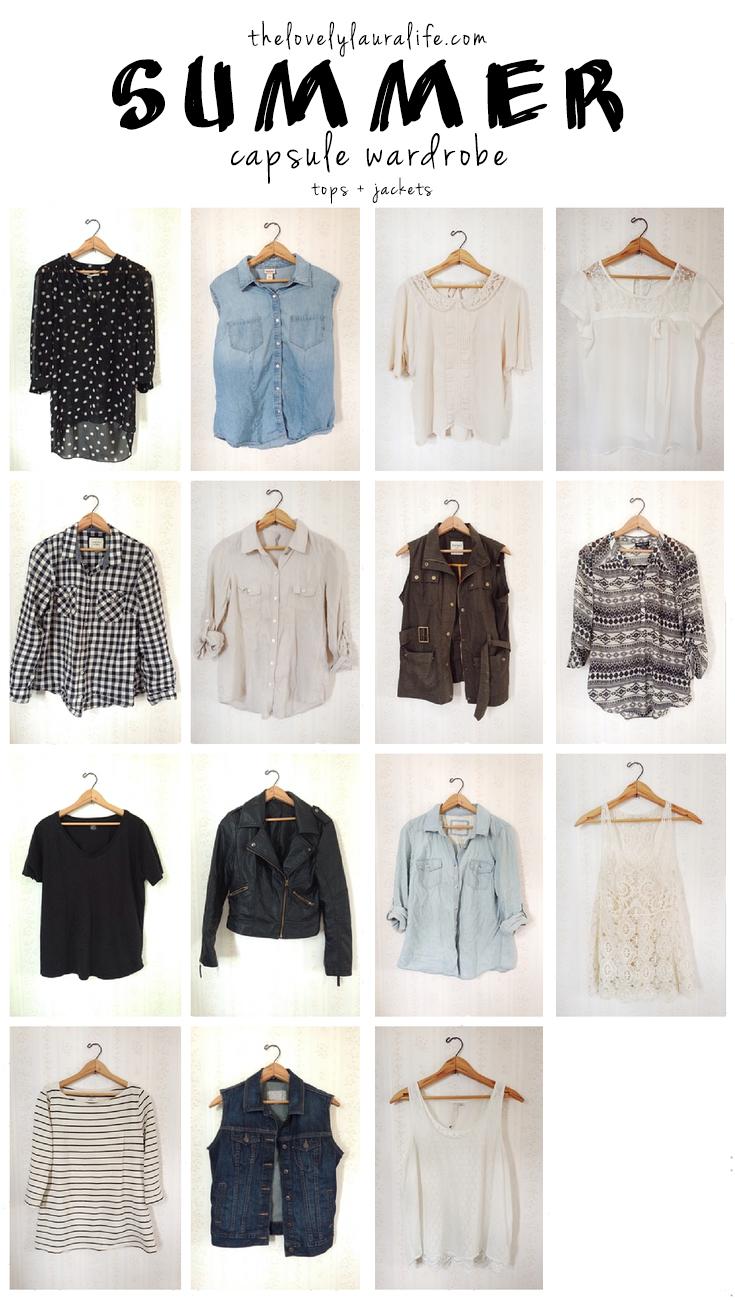summer capsule wardrobe tops and jackets