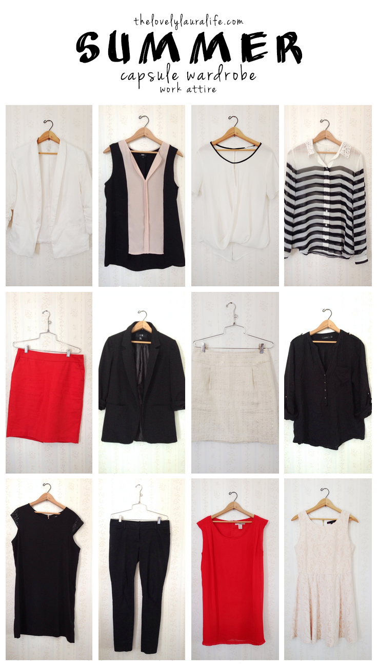 summer capsule wardrobe work attire
