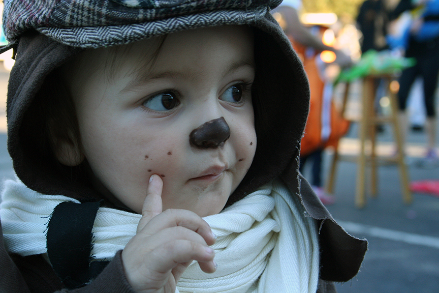 Easy diy halloween costume for kids -- Go Dogs, Go