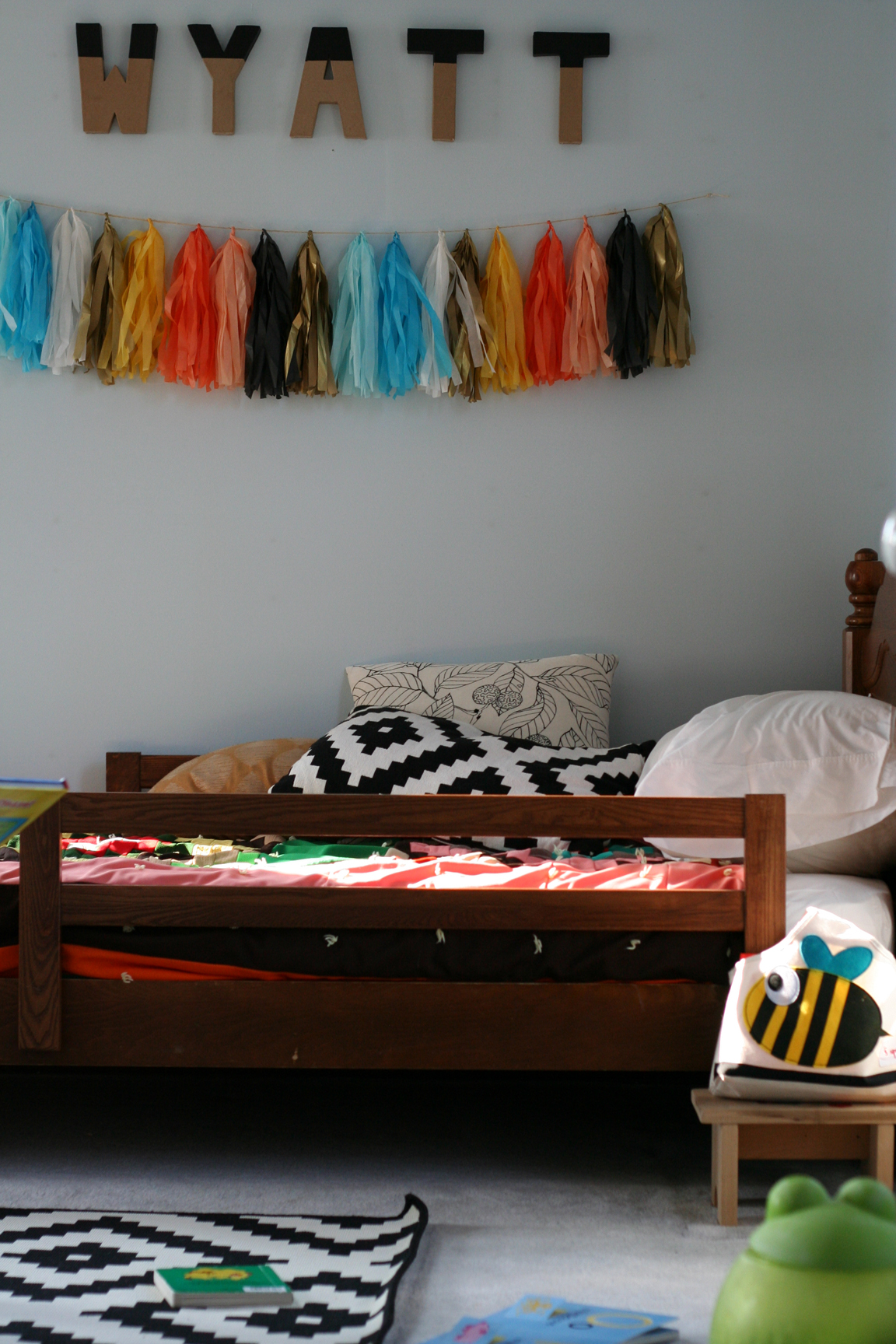An eclectic big boy room