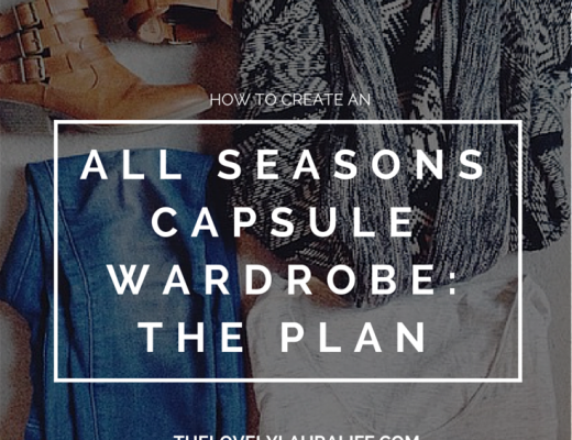 how to create an all seasons capsule wardrobe- the plan