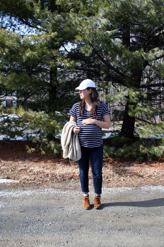 bump style / transitioning a winter capsule to spring