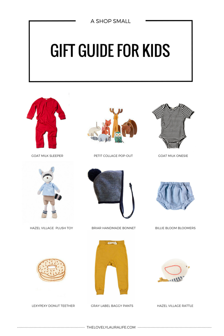 A shop small gift guide for kids