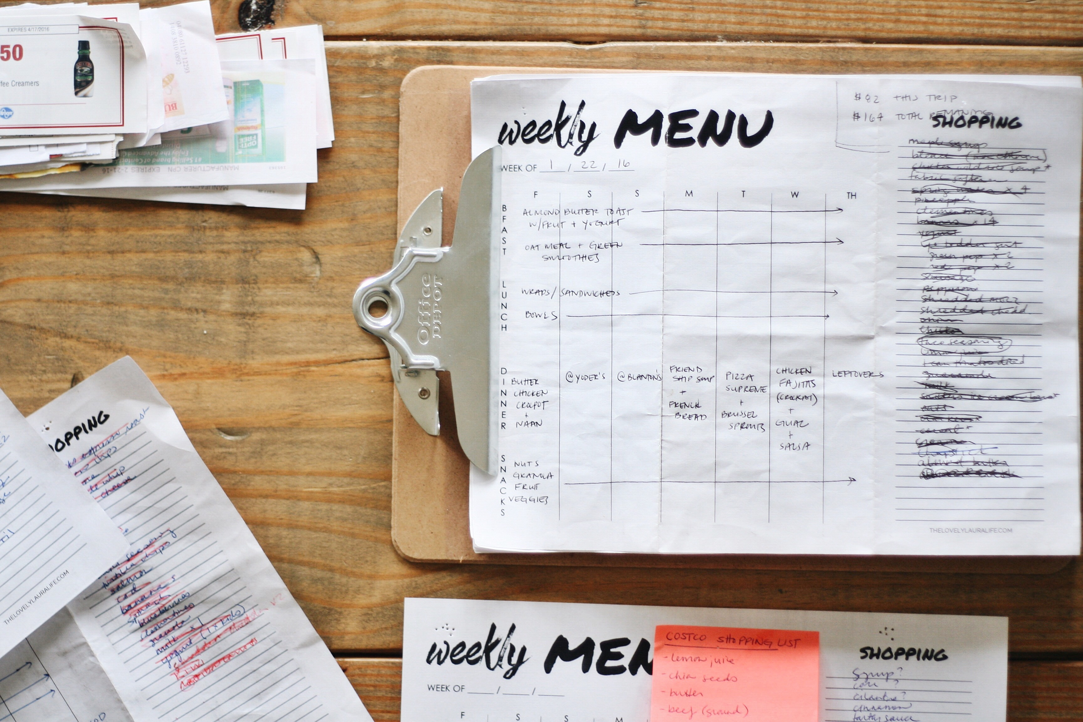 Meal planning wins + fails via thelovelylauralife.com