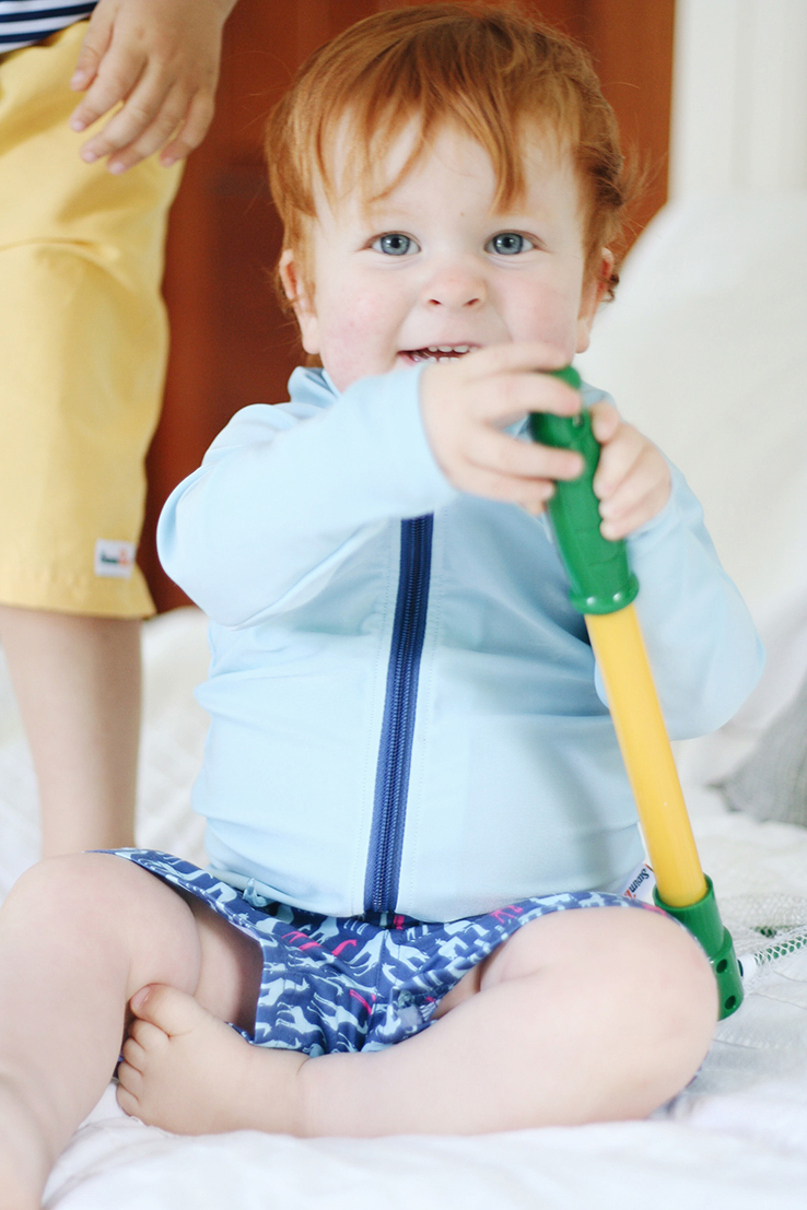 In my bag | a beach tote with babies via thelovelylauralife.com