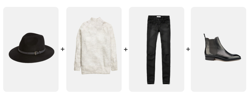 style uniform no 4, cozy knits + skinny jeans + ankle boot + hat