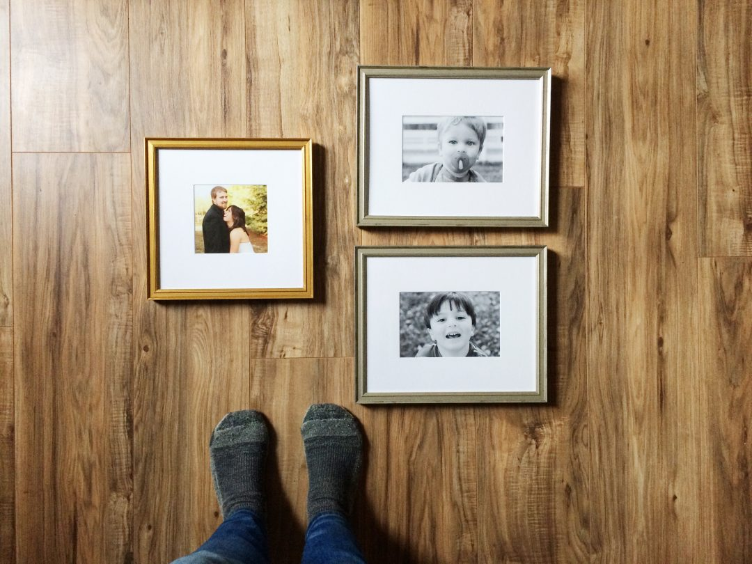 Framing family photos for the home