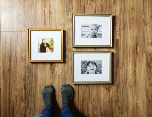 Framing family photos for the home