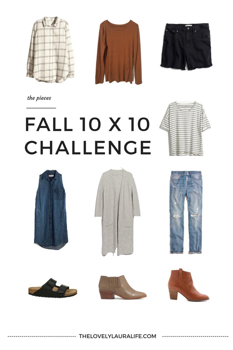 Fall 10x10 Challenge via thelovelylauralife.com