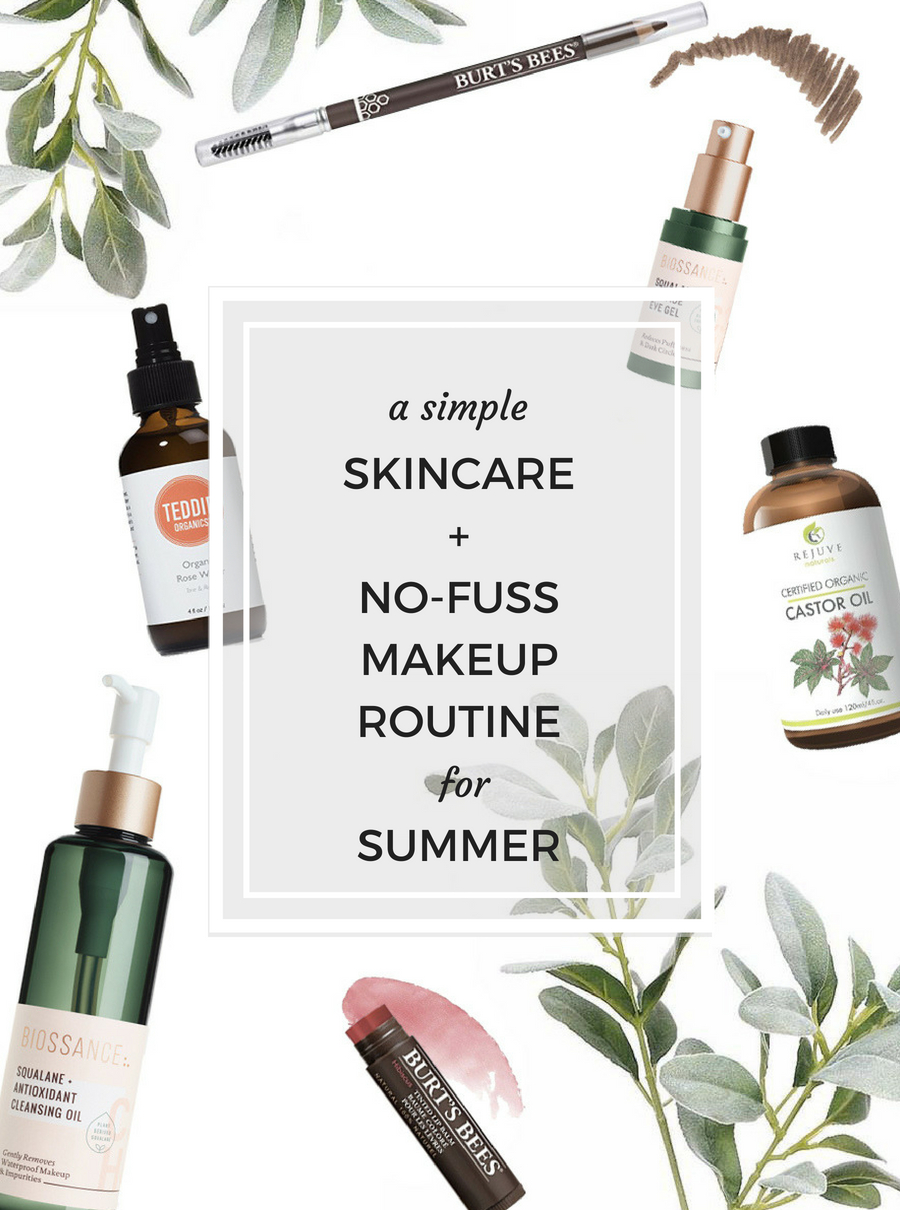 Simple summer skincare and makeup via thelovelylauralife.com